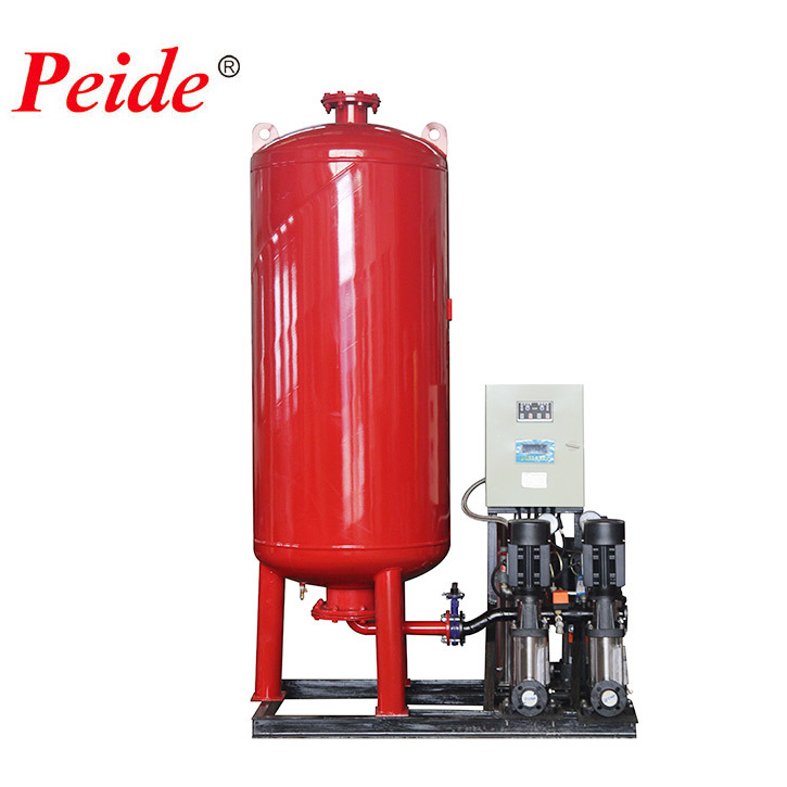 Commercial pump controlled pressurisation system